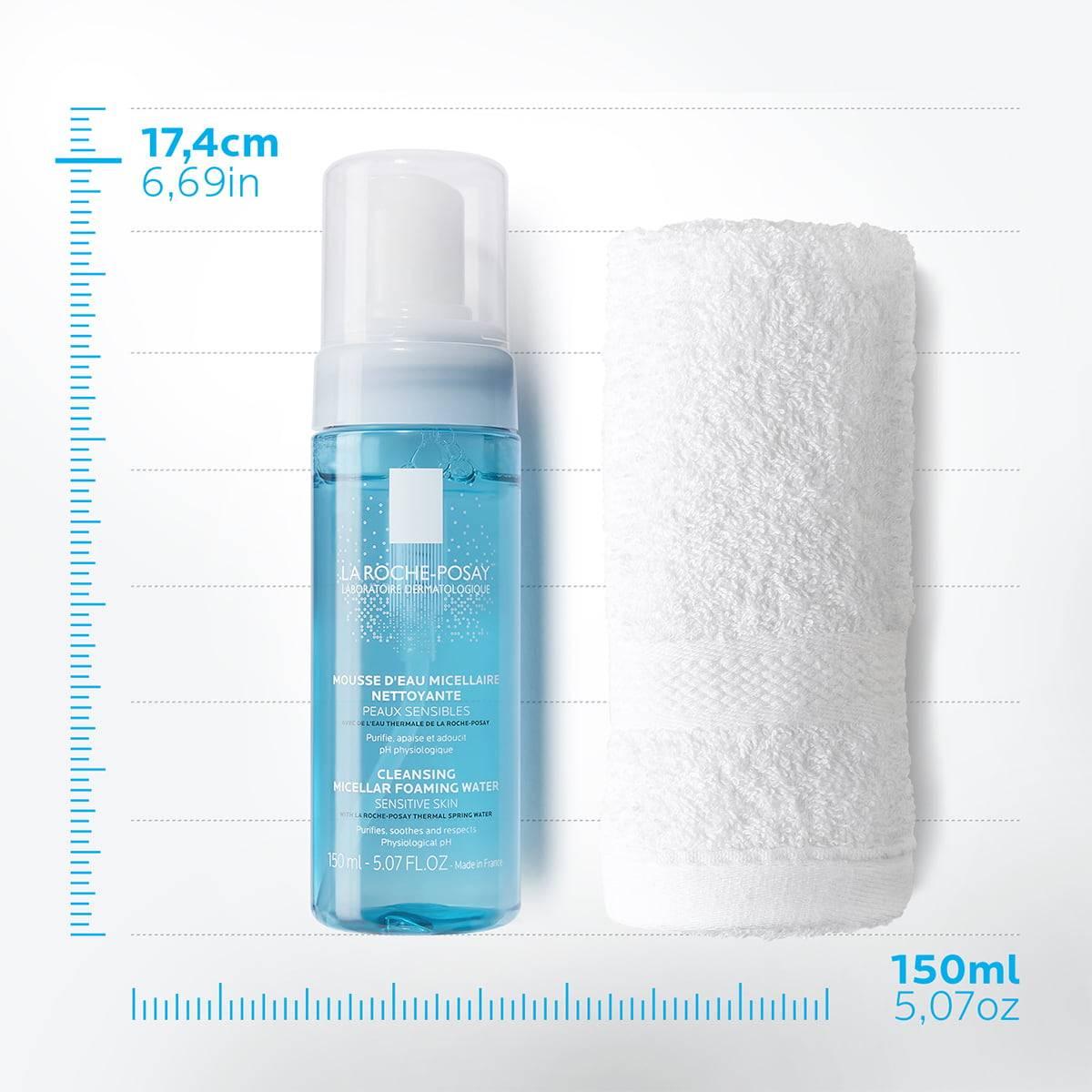 La Roche Posay StránkaProduktu Fyziologická čisticí péče na obličej Pěnící voda 1