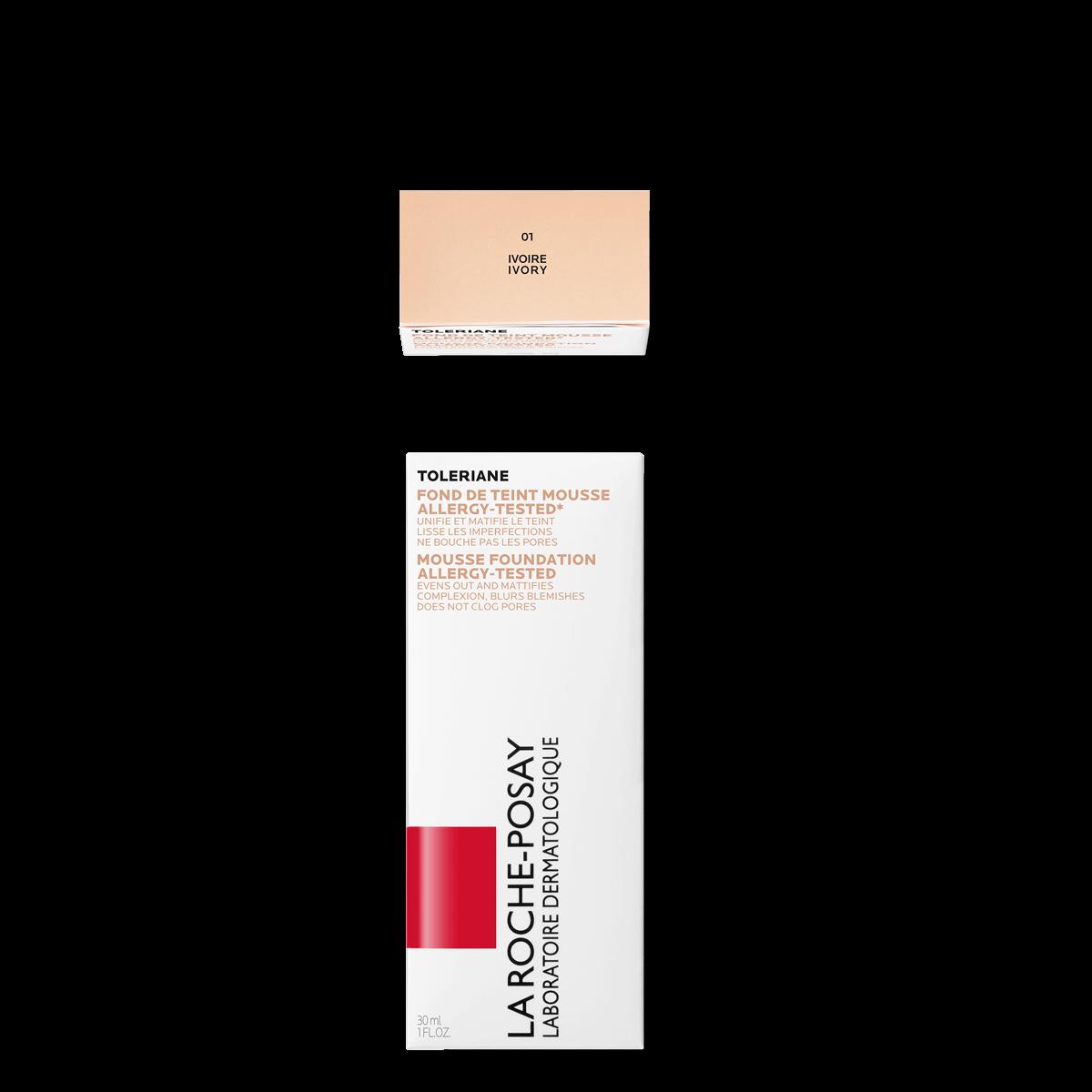 La Roche Posay Citlivá Toleriane Make-up PĚNOVÝ MAKE-UP 01IVORY 3